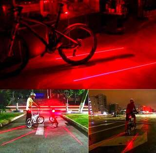 LED Laser Warning BackLight for Cycling (Laser Caution Security Warning Rear Light)