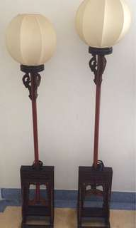 Antique Chinese LANTERN STANDS