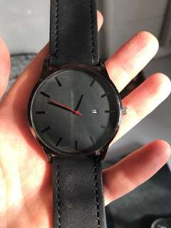Men's Blacked Out Watch!