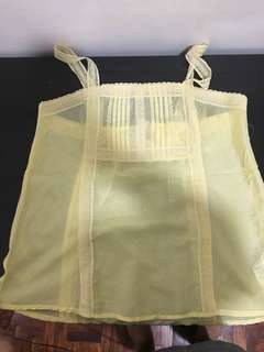 Forever 21 Yellow Sheer top