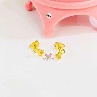 916 Gold Fancy Design Earstud