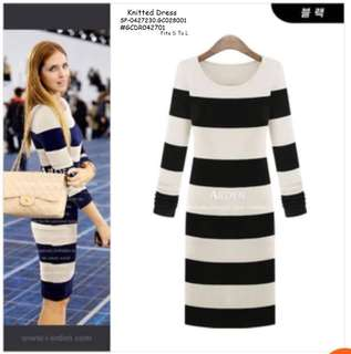 KNITTED DRESS Fits S To L