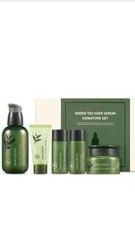Innisfree green tea see serum signature set