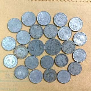 台灣古錢*1角2角錢幣共24個