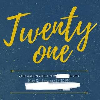 Customize E-invitation