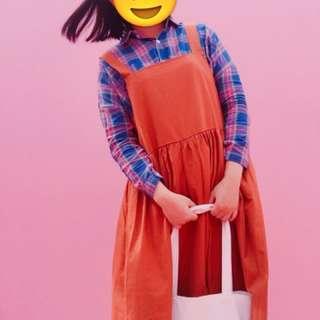 大尺碼日系可愛吊帶裙