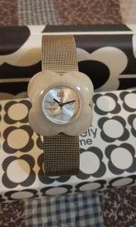 Orla Kiely OK4032 Ladies Poppy Horn Case Gold Mesh Bracelet Watch
