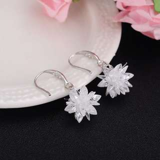 BN Ice Snowflakes 925 sterling silver Earrings