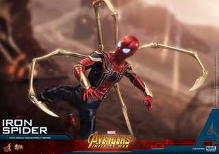 Hot Toys Avengers Infinity War Iron Spiderman 1/6 scale