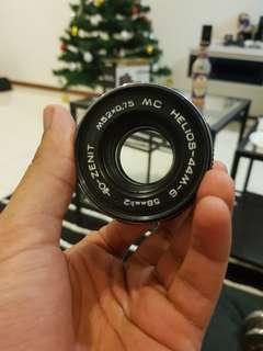 Helios 58mm f2 portrait lens lense with sony a7 a7ii a7iii a7r a7rii a7riii a7s a7sii