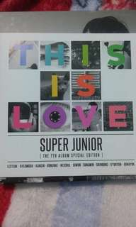 [CD] Super Junior 7th Album - Special Edition : This is Love [kyuhyun cover] + poster