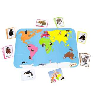 Teach My Preschooler Continents and Animals