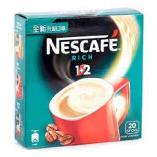 雀巢咖啡® - 1+2 特濃即溶咖啡飲品 20 x 13克