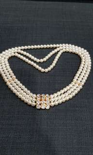 Quality Pearl Necklace with Diamond