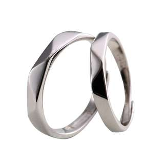 925 Sterling Silver Adjustable Couple Ring