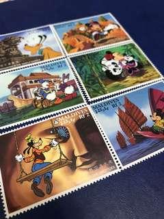 1996 馬爾代夫迪士尼郵票 米奇唐老鴨遊中國 6全