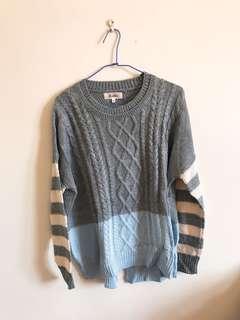 🚚 Beartwo針織條紋毛衣