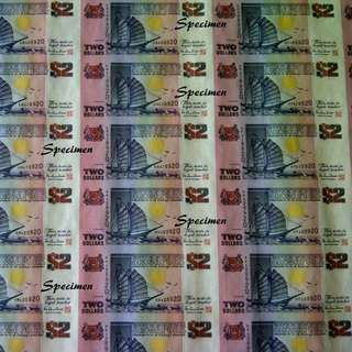 Ship $2 Uncut Sheet 40 Singapore