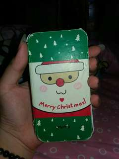 Case flip cover christmas edition iphone 4