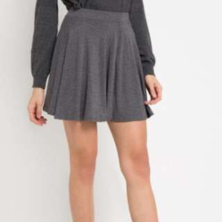 Pull n Bear (ORI) mini flare skirt in grey