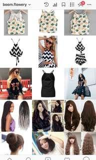 Barang branded wig rambut palsu hair clip jaket sweater celana korea zara import tas branded stadivarius bershka dll