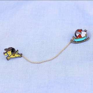 (INSTOCK) Cute Christmas Enamel Pin