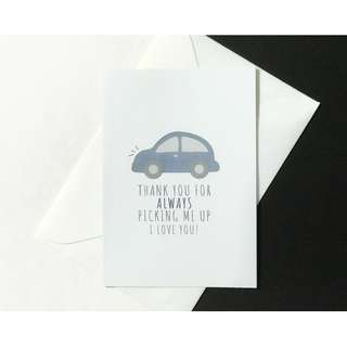 A6 Father's Day Card - Car