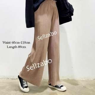🐧#147 Long Pants Wide Legs Casual Ladies Girls Women Female Lady Beige Free Size