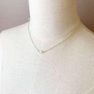 Europe Silver Plated Simple Necklace