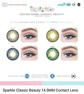 contact lens With solution &case