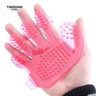 DOG BATH BRUSH SHOWER GLOVE