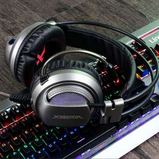 XIBERIA Headset with Microphone Surround Stereo Wired PC Gaming Headset Over Ear Headphone for PC