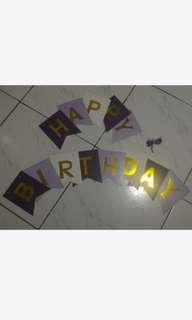 DIY Happy Birthday Banner (Violet)