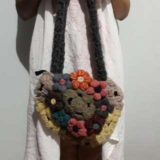 Flower Knit Bag