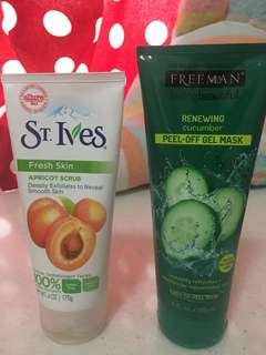 St Ives Apricot Scrub and Freeman Mask