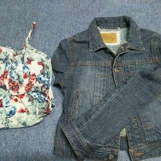 DENIM JACKET + FLORAL DRESS