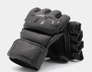 MMA Boxing Gloves High Quality PU Mateial MMA Fighting Half Gloves - FREE Handwraps Included!