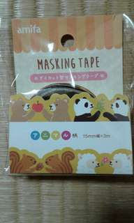 Bear, Panda, Squirrel and Sheep Masking Tape
