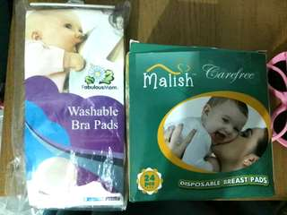 Breast pads (combo disposable + washable)