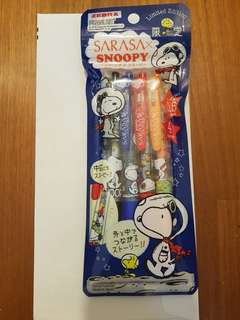 🚚 Limited Edition Sarasa Snoopy Pens
