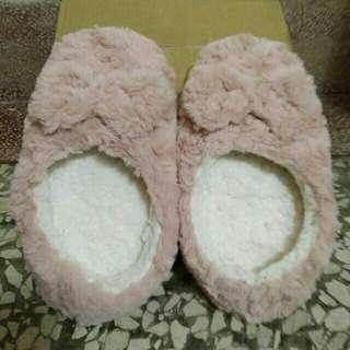 🚚 💓一件90兩件150聊聊改價💓乾燥花粉 玫瑰毛茸茸保暖室內拖鞋