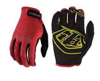 🆕! Troy Lee Designs XC Enduro Downhill Sprint Red Full Finger Gloves    #OK