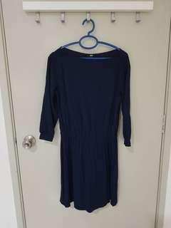 Preloved Uniqlo Navy Dress