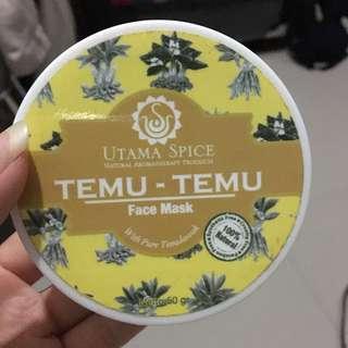 Utama spice temu-temu face mask with pure temulawak