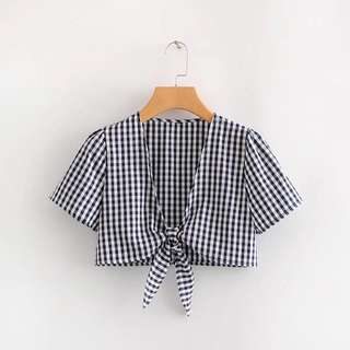 🔥Europe V Neck Short Sleeve Waist Shirt