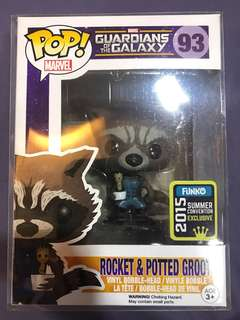 Funko Pop Rocket and Potted Groot