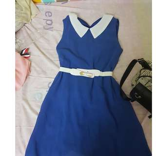 Fabulous + Simple Blue Dress for sale (Suitable for OL or dating)