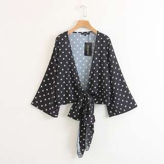 🔥Europe and US New Slim Wild Star Long Sleeve Kimono Cardigan Jacket