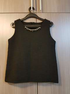 Sleeveless Black Top