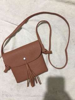 sling brown bag